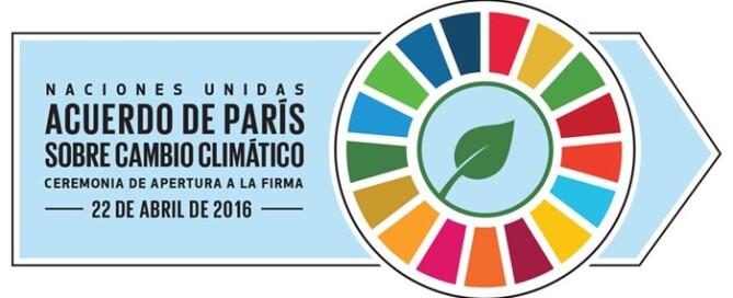 Firma del acuerdo de la COP21 en la ONU